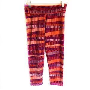 Climalite Orange Adidas Crop Leggings XS
